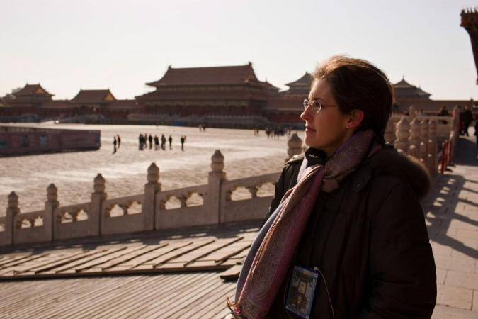 <strong>Saturday, February 23, 10:00AM:</strong> It's Beijing, the last stop on Asia 2008, and Principal Associate Concertmaster Sheryl Staples makes a morning visit to the famous Forbidden City, aided by an electronic guide. The vast structure was the palace from the mid-Ming Dynasty to the Qing Dynasty. It was declared a World Heritage Site in 1987, and is listed by UNESCO as the largest collection of preserved ancient wooden structures in the world.