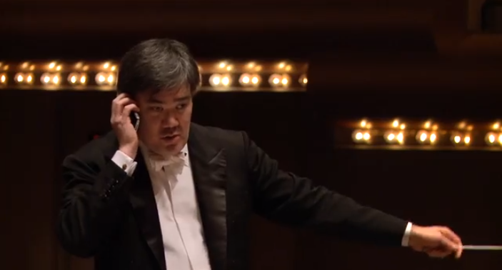 Alan Gilbert on Cell Phone