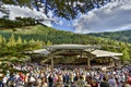<b> Friday, July 19, 2013, 6:09PM:</b> The full house stands as Alan Gilbert and the Orchestra open their first concert of the summer in Vail with <em>The Star-Spangled Banner,</em>  the traditional inaugural anthem of each season's residency.