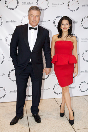 <b>6:15PM:</b> Arriving in style are Philharmonic Board Member and Radio Host Alec Baldwin and his wife, Hilaria. Mr. Baldwin is fresh off his stint as Artistic Advisor of the previous week's pre-season THE ART OF THE SCORE: Film Week at the Philharmonic. Photo by Julie Skarratt.