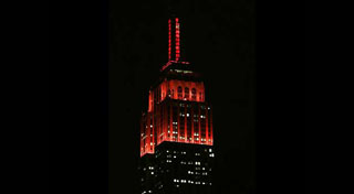Empire State Building Lit Red Thumb