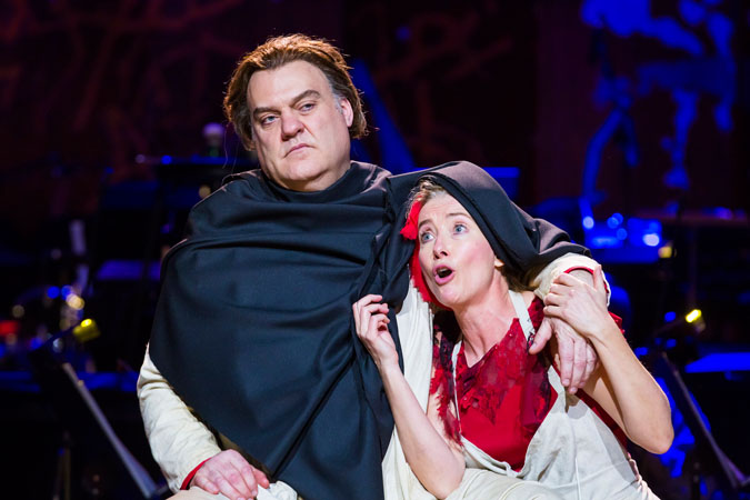 "<b>12:11PM:</b> Emma Thompson and Bryn Terfel bring their A game to their rendition of ""By the Sea"" at the dress rehearsal."