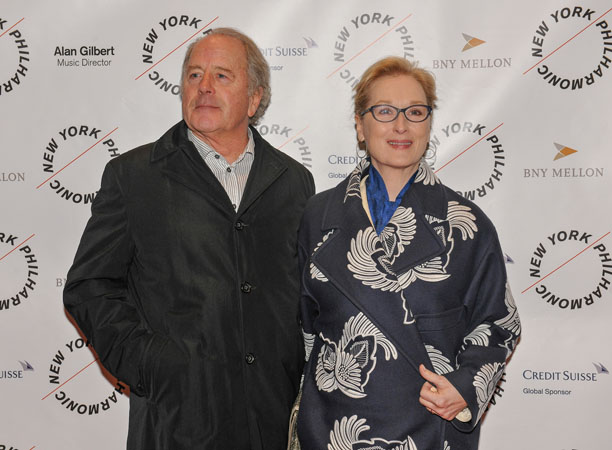 <b>5:45PM:</b> The evening of gleeful gore is also the centerpiece of a glamorous Gala attended by the likes of Oscar-winning actress Meryl Streep, a friend of Emma Thompson's, who graciously agrees to be photographed with her husband, Don Gummer. (Photo by Stephanie Berger.)