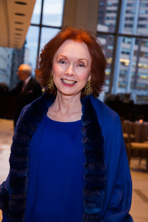 <b>6:45PM:</b> Also attending the reception was Mary Wallach; the Mary and James G. Wallach Foundation was among the Gala Underwriters.