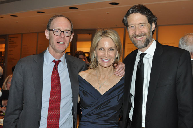 <b>10:07PM:</b> With the performance over, the Gala dinner on Avery Fisher Hall's Grand Promenade and Tiers begins. Philharmonic Board Member J. Christopher Flowers and his wife, Anne, were the Chairmen of this highlight in New York's social season, which, as Philharmonic Chairman Gary W. Parr would announce, raised almost $1.2 million. (Photo by Linsley Lindekens.)