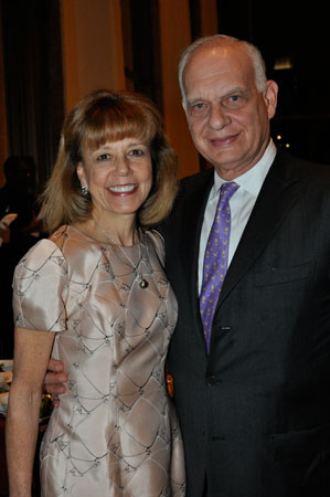 <b>10:31PM:</b> The Gala was attended by many of the Orchestra's most dedicated benefactors, including Philharmonic Board Member Daria L. and Eric J. Wallach, who are Gala Underwriters. (Photo by Linsley Lindekens.)