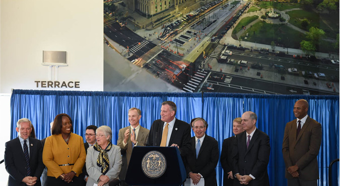 Mayor Bill de Blasio New York City Scott Stringer Carmen Farina Ted Wiprud NY Philharmonic