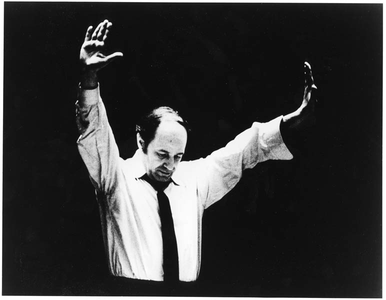 Pierre Boulez in rehearsal as captured by Philharmonic contrabassoonist Bert Bial.