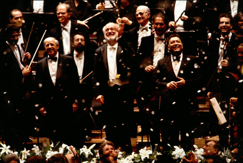 On December 7, 1992, Boulez returned to join then Music Director Kurt Masur and fellow former Music Director Zubin Mehta in celebrating the Philharmonic's 150th anniversary.