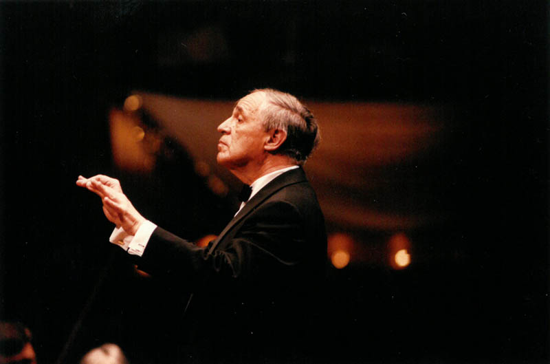 For the 150th anniversary concert, each living Music Director was invited to perform one of their signature works: Boulez conducted Debussy's <em>La Mer,</em> which he also conducted in his Philharmonic debut. In the same year Boulez was made an Honorary Member of the Society, an honor shared by such figures as Wagner, Stravinsky, and Bernstein.