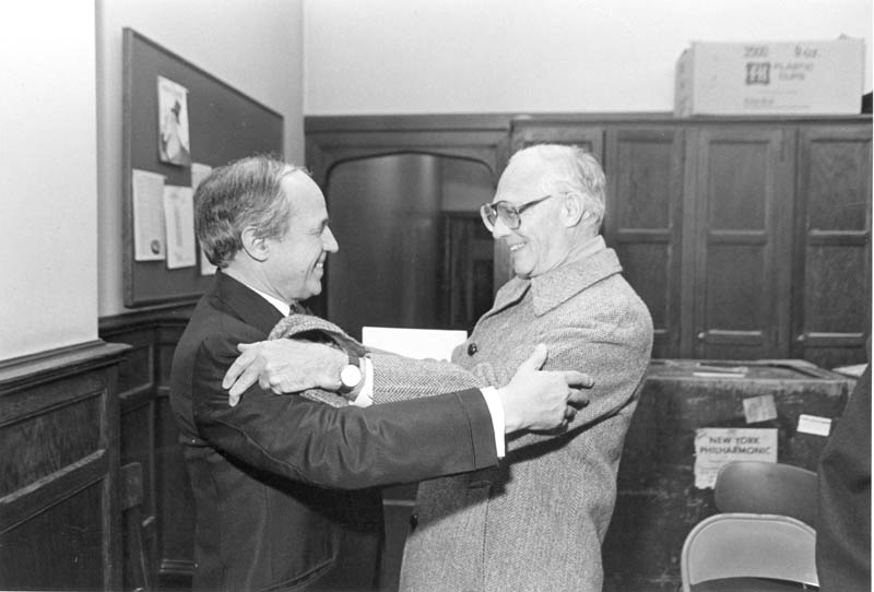 Then Philharmonic President Carlos Moseley and Pierre Boulez shared a warm and close friendship, and shared amusement that Moseley offered Boulez the Philharmonic Music Directorship on April 1, 1969.