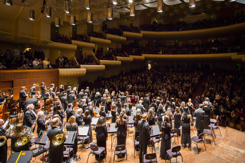 <b>San Francisco, Saturday, May 7, 2016, 9:54PM:</b> Alan Gilbert and the New York Philharmonic take their final bow of the CALIFORNIA 2016 tour.