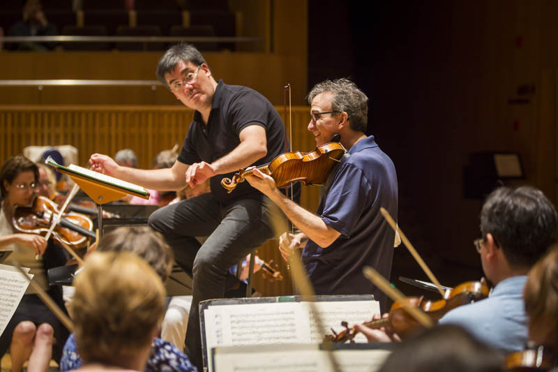 <b>Shanghai, July 6, 2016, 1:51PM:</b> That afternoon, the Philharmonic rehearses with violinist Gil Shaham, who will perform Mendelssohn's Violin Concerto with the Orchestra in the final concert of the residency.