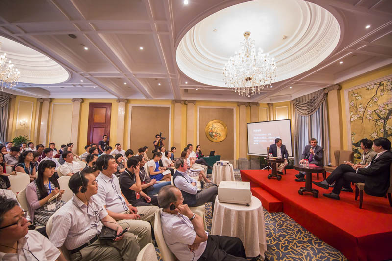 <b>Shanghai, July 8, 2016, 2:03PM:</b> The next day, two of the major players in the Shanghai Orchestra Academy and Residency Partnership speak about issues facing orchestras in the U.S. and China: Philharmonic President Matthew VanBesien and Long Yu — music director of the Shanghai Symphony Orchestra, artistic director and chief conductor of the China Philharmonic Orchestra, artistic director of the Guangzhou Symphony Orchestra, and founding artistic director of the Beijing Music Festival. Long Yu hosted the seminar, which also featured leaders of orchestras elsewhere in China.