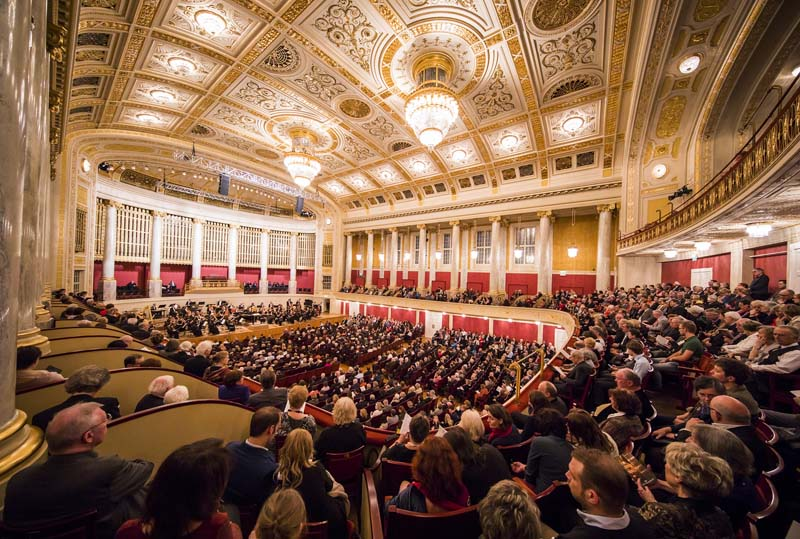 <b>Vienna, March 29, 2017, 7:35PM:</b> The concert is about to begin at the opulent Wiener Konzerthaus, which opened in 1913. Photo by Chris Lee.