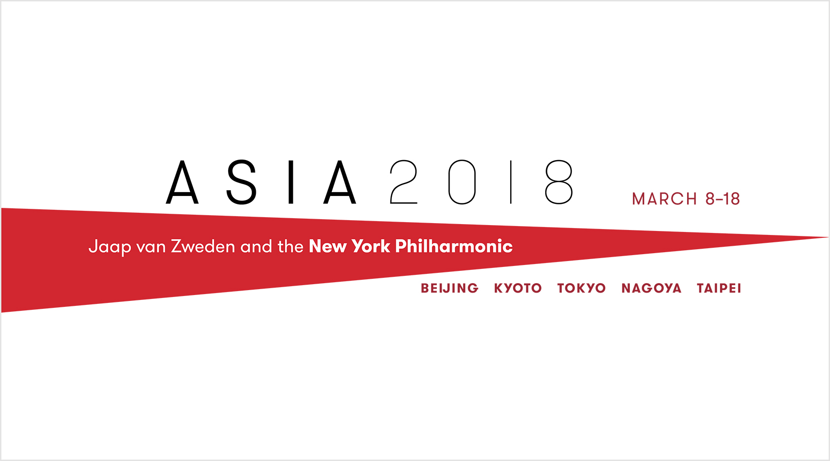 9b849726654461 Jaap van Zweden and the New York Philharmonic To Tour Asia in March 2018