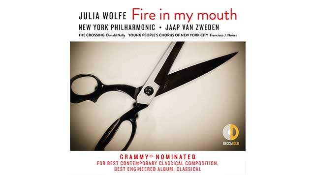 Graphic of the cover of the New York Philharmonic's recording of Julia Wolfe's