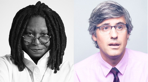 Whoopi Goldberg and Mo Rocca