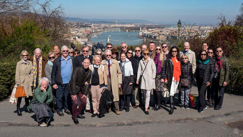 <b>Budapest, March 28, 2017, 11:01AM:</b> The EUROPE / SPRING 2017 tour continues in Budapest, where, overlooking the beautiful blue Danube, we find members of the Board of Directors and International Advisory Board, who joined a portion of the tour for meetings, and the opportunity to spend time with the musicians and see first-hand the warm reactions they get on tour. Photo by Jonathan Seah.