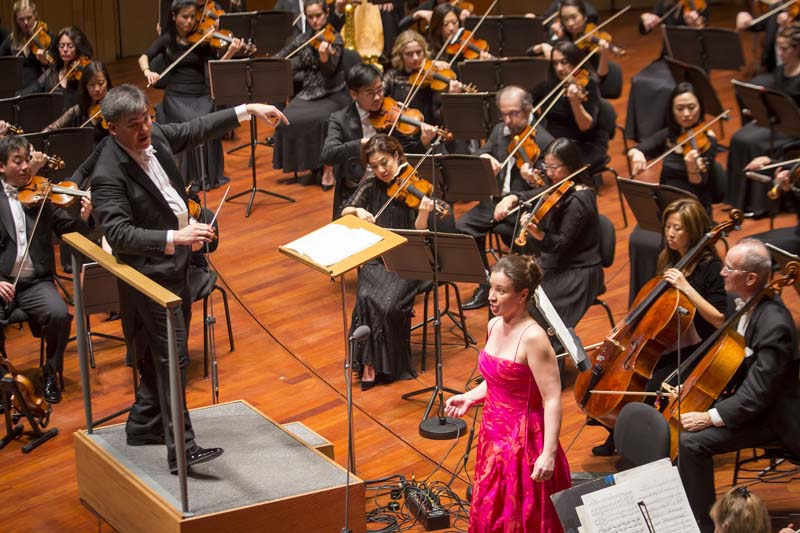 "<b>Budapest, March 28, 2017, 9:19PM:</b> Soprano Christina Landshamer joins the Orchestra for Mahler's Fourth Symphony. <em>Wiener Zeitung</em> wrote in its review, ""the strings sounded as if they were woven from moonlight,"" while <em>Der Standard</em> wrote: ""The New Yorkers proved that they are able to indulge and dance sensually and pliantly just as their Viennese colleagues. The opening of the third movement was moving to tears, cautious and calm."" Photo by Chris Lee."