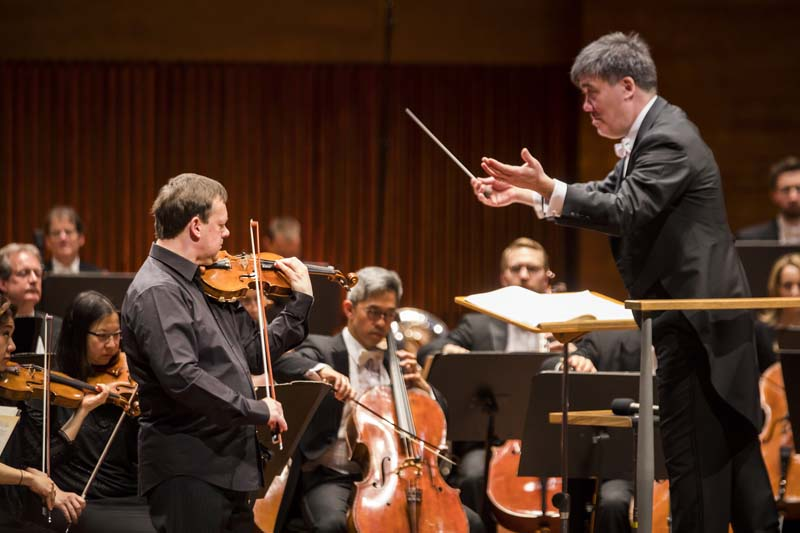 <b>Copenhagen, April 7, 2017, 7:48PM:</b> Alan Gilbert and the New York Philharmonic reunite with Frank Peter Zimmermann, the former Mary and James G. Wallach Artist-in-Residence, for the tour's fourth and final performance of Prokofiev's Violin Concerto No. 1. Before they performed, the Music Director — speaking on behalf of the Orchestra — dedicated the concert to the victims of the tragedy that had taken place earlier in the day in Stockholm (one of the cities that Alan Gilbert calls home), and to the hope for peace and the idea that all humankind is one people.